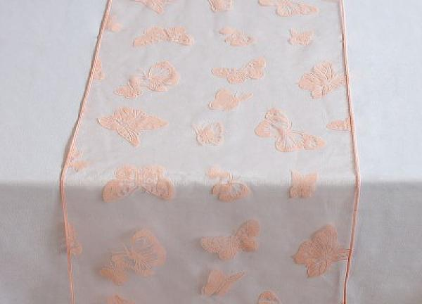 Organza Butterfly Table Runners - Pale Pink