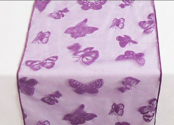 Organza Butterfly Table Runners - Purple