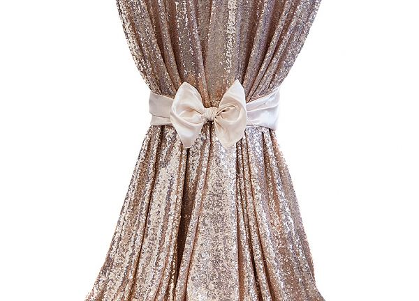Sequin Table Cloths 120 - Champagne
