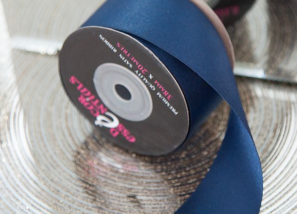 Decor Essential Satin Ribbon 38mm x 20m - Midnight Blue