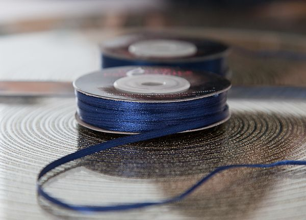 Decor Essential Satin Ribbons 03mm x 50m - Navy Blue
