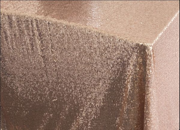 Sequin Table Cloth 70x144 - Champagne