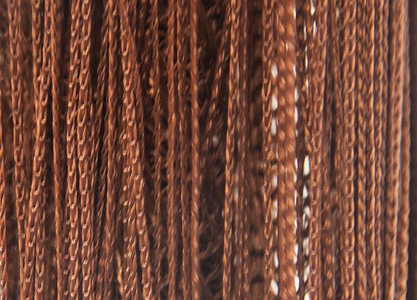 Fringe Curtains - Brown