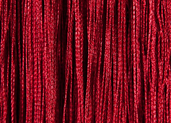 Fringe Curtains - Red