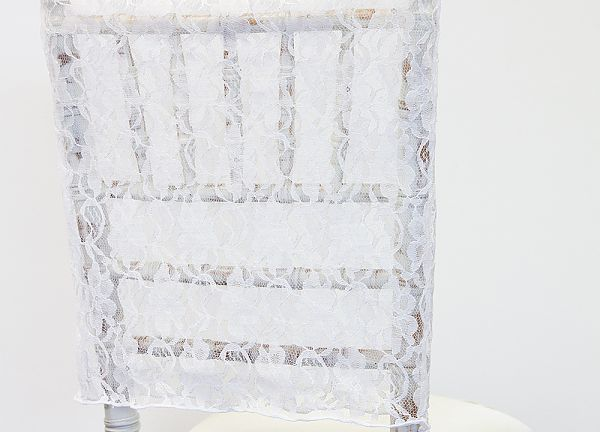 Lace Chair Cap - White