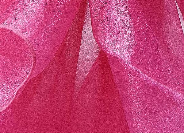 Organza FR Fabric 1.5M Wide 30M Roll - Hot Pink