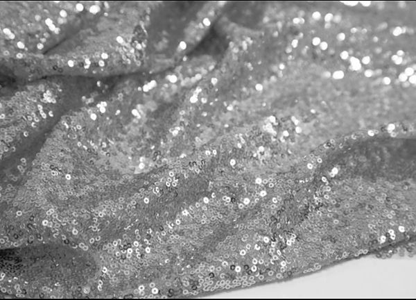 Sequin Fabric - Silver
