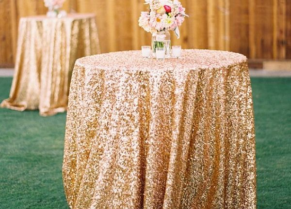 Sequin Table Cloths 120 - Gold