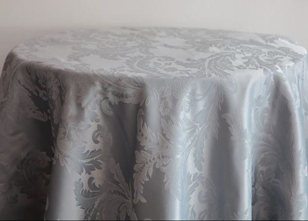 Damask Table Cloths 120 - Silver