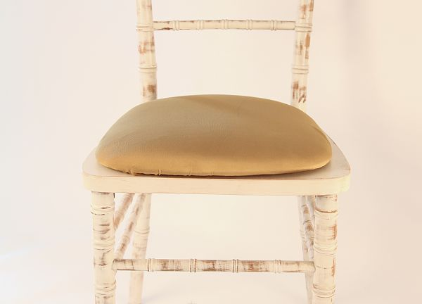 Spandex Seat Pad Covers - Gold