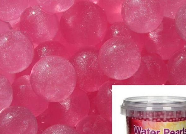 Metallic Water Pearls 100g 12mm - Metallic Pink