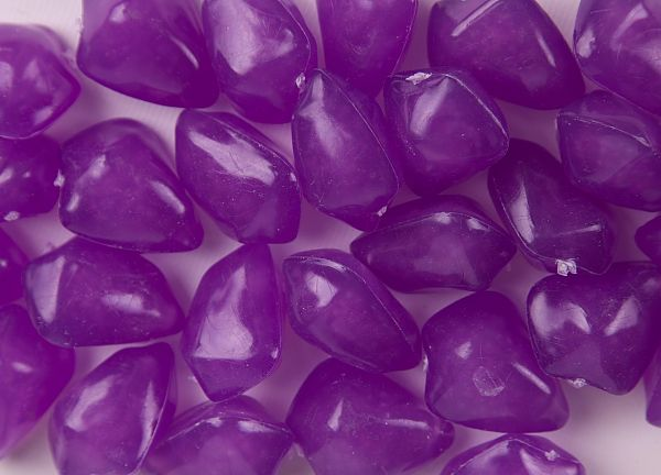 Floating Acrylic Stones 50 Pack - Purple