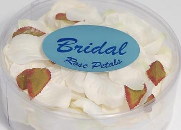 Silk Rose Petals - White