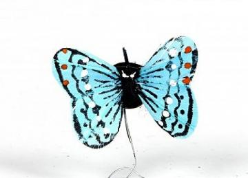 01 Hand Painted Butterflies - Aqua