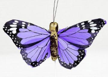 02 Hand Painted Butterflies - Purple