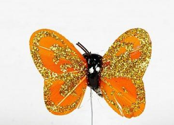 04 Glitter Butterflies - Orange