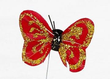 04 Glitter Butterflies - Red