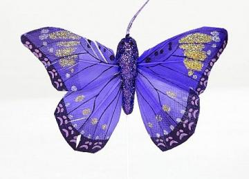 06 Pattern Butterflies with Glitter - Purple