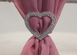 Heart Diamante Brooch - 6 Pack