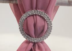 Round Diamante Brooch - 6 Pack