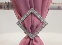Square Diamante Brooch - 6 Pack