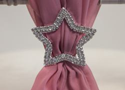 Star Diamante Brooch - Silver