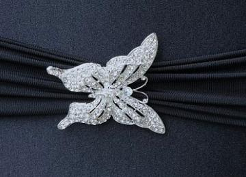 Grand Diamante Butterfly Brooch - 6 Pack