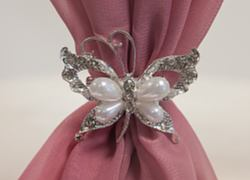 Pearl Butterfly Brooch - 6 Pack