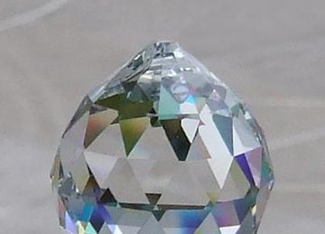 Crystal Drop Ball 30mm - Clear