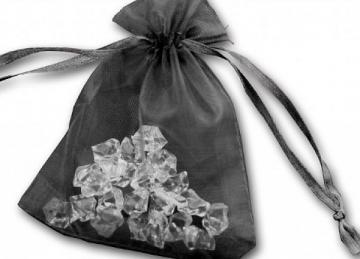 Essential Organza Favour Bags - Black