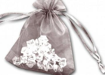 Essential Organza Favour Bags - Silver