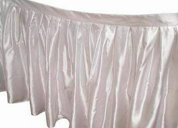 Table Skirt 17ft - Ivory