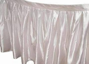 Table Skirt 17ft - White