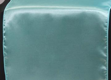 Satin Table Runners - Aqua