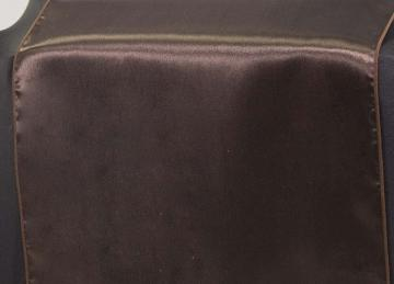 Satin Table Runner - Chocolate