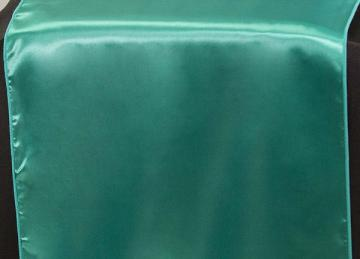 Satin Table Runners - Jade Green