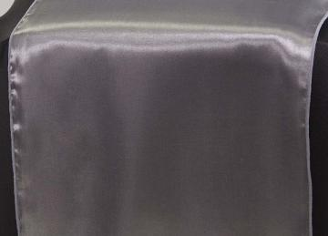 Satin Table Runners - Pewter