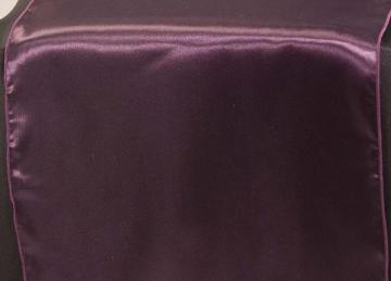 Satin Table Runners - Plum
