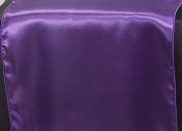 Satin Table Runners - Purple