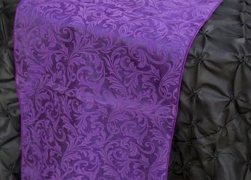 Flock Organza Table Runners - Ultra Purple