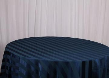 Striped Table Cloths - Navy