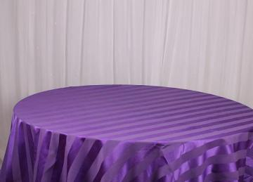 Striped Table Cloths - Purple