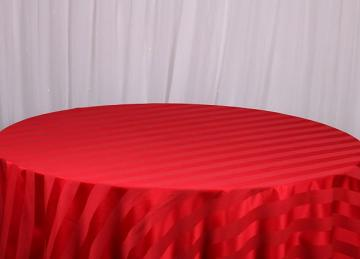 Striped Table Cloths - Red