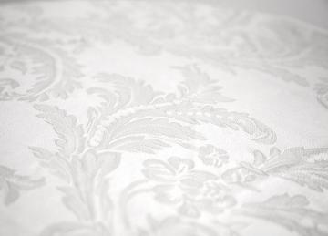 Damask Table Cloths 90 x 90 - White