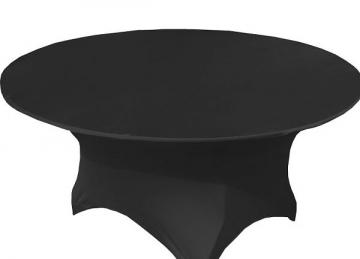 Spandex Lycra 5ft Round Table Cloth - Black