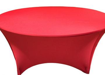 Spandex Lycra 5ft Round Table Cloth - Red