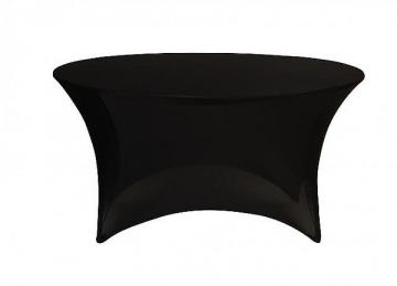 Spandex Lycra 6ft Round Table Cloths - Black