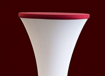 Lycra Cocktail Table toppers Size A - Garnet