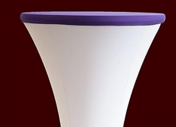 Lycra Cocktail Table toppers Size A - Purple