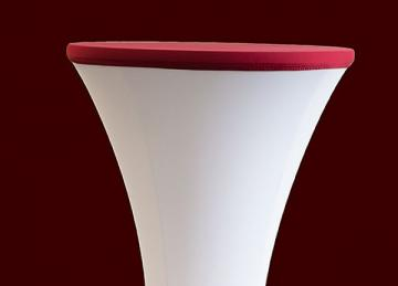 Lycra Cocktail Table toppers Size B - Garnet